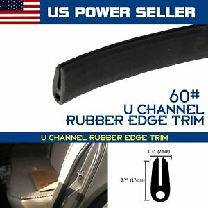 6 5feet Edge Trim Rubber Protector Black For Car Automobile Door Strip U Channel