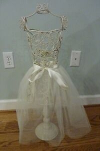 Miniature Wire Metal Dress Form Mannequin Table Top Display 29 Tall Shabby Chic