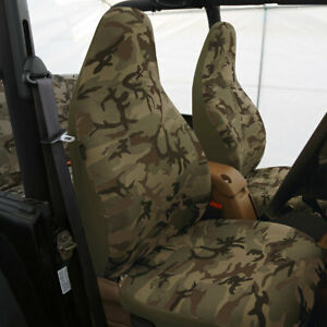Top Quality Sport Car Seat Cover Front Backfor Car Truck Suv Green Camo