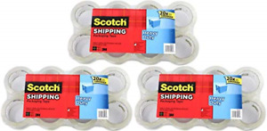 Scotch Heavy Duty Shipping Packaging Tape 1 88 Inches X 54 6 Yards 8 Rolls 400