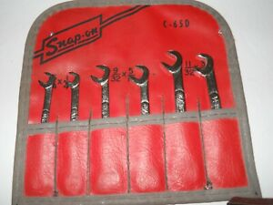Snap on Standard Wrench Set C65d 6 Pieces