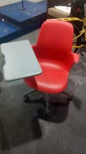 Steelcase Node 5 Star Rolling Adjustable Chair With Work Station
