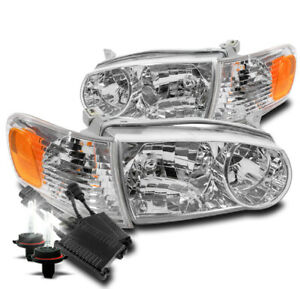 For 2001 2002 Toyota Corolla Chrome Replacement Headlight Lamp 50w 8000k Hid Set