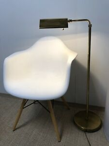 Vintage Mid Century Modern Koch And Lowy Era 1970s Brass Floor Lamp Dimmer