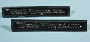 1962 Corvette Fuel Injection Emblems Pair Very Nice Reproduction