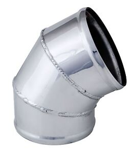 Air Intake Tube 4 O D 60 Degree Weld Bend 9768 Polished Aluminum Elbow Pipe