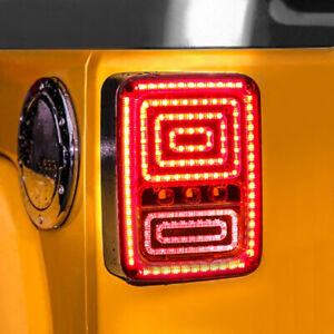 Led Snake Tail Lights Fit For Jeep Wrangler 2007 2018 Jk Jku 2 4 Doors