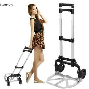 Cart Folding Dolly Collapsible Trolley Push Hand Truck Moving Warehouse 150ibs