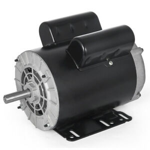 3hp Spl 1 Phase Electric Air Compressor Duty Motor 56 Frame 5 8 Shaft 3450rpm F