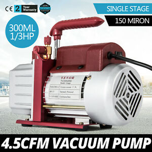 4 5cfm Single stage Rotary Vacuum Pump 150 Miron 5pa Refrigerant 4 5cfm 1 3hp