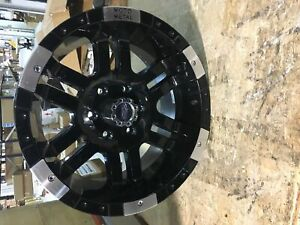 Moto Metal Mo9518960312 Single 18x9 6x139 7 Mo951 Gloss Black Machined Wheel