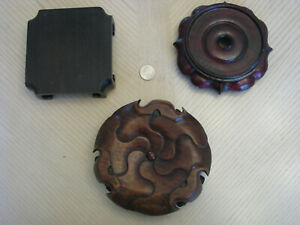 Three Chinese Or Japanese Wood Stands