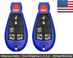 2x New Replacement Keyless Entry Remote Key Fob For Chrysler Dodge Caravan Vw