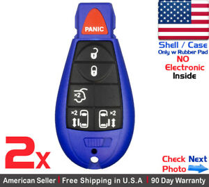 2x New Replacement Remote Key Fob Case For Chrysler Dodge Caravan Vw Shell