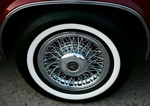 4 P215 75r 15 Inch White Wall Tires 1 1 4 Ww Band Thick Fat Wide Gangster New
