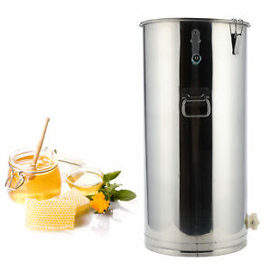 Large 2 Frame Stainless Steel Honey Extractor Beekeeping Equipment Silver New