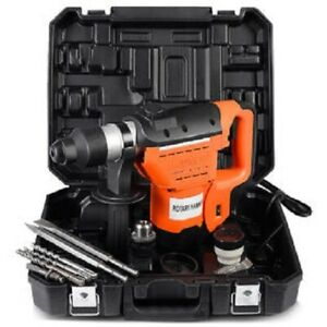 Goplus 1 1 2 Sds Electric Rotary Hammer Drill Plus Demolition Bits Variable