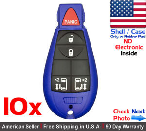 10x New Replacement Remote Key Fob Case For Chrysler Dodge Caravan Shell Only