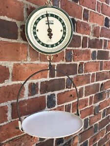 Vintage Detecto Scale 20 Lb Jacob Bros Nyc Hanging Scale Basket Store Produce