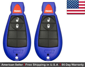 2x New Replacement Keyless Entry Remote Key Fob For Chrysler Dodge Caravan