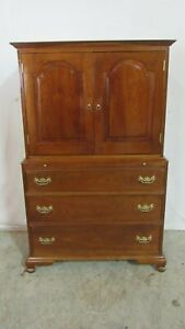 Stickley Armoire Chest Solid Cherry Bedroom Set