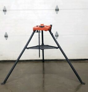 Ridgid 450 Chain Vise Tripod Stand Use W your Pipe Threading Threader 300 12