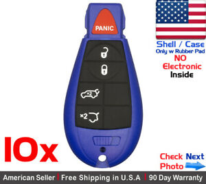 10 New Replacement Remote Key Fob Case For M3n5wy783x Iyz c01c Jeep Shell Only
