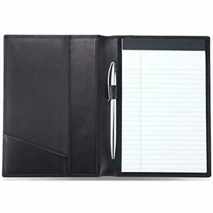 Hiscow Classy Leather Junior Padfolio With Pen Loop Italian Calfskin classic
