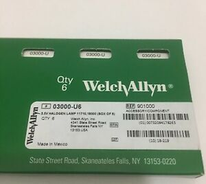 New Welch Allyn 03000 Bulb pack Of 6 Lamps
