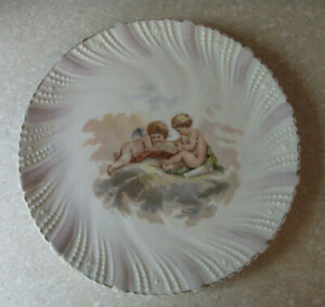 Antique Cherub Cupid Love Angel Plate Victorian Porcelain Scholars Writing 8
