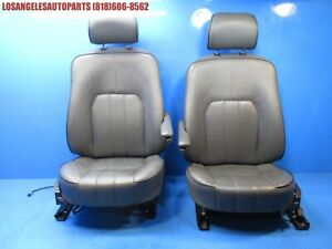 2003 2006 Land Rover Range Rover Front Leather Seats Black Left Right Heated