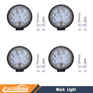 4pcs 4inch 27w Round Led Work Light Bar Spot Lamp Off road Driving Fog Lights Us