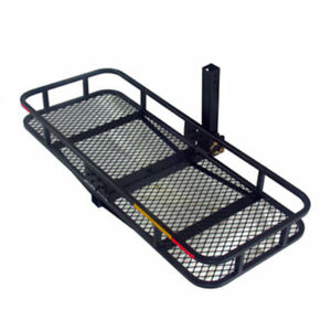 Hitch Mounted Folding Cargo Carrier With Waterproof Bag Black For Car Rear Rack