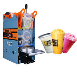Electric 220v 300cups h Automatic Plastic Drink Tea Cups Sealer Sealing Machine