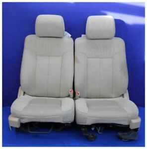2012 2014 Ford F150 Pickup Truck Oem Cloth Tan Captain Front Bucket Seats