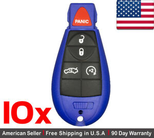 10x New Replacement Keyless Entry Remote Control Key Fob For Dodge Chrysler