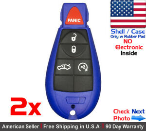 2x New Replacement Remote Control Key Fob Case For Dodge Chrysler Shell Only