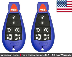2x New Keyless Entry Remote Key Fob For Volkswagen Caravan Chrysler Dodge