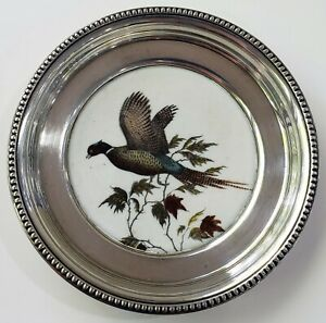 Vintage Sterling Silver Frank M Whiting Collectible Coaster