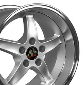 17x9 17x10 5 Rims Fit Mustang Cobra R Dd Style Wheels Silver Mach d Set