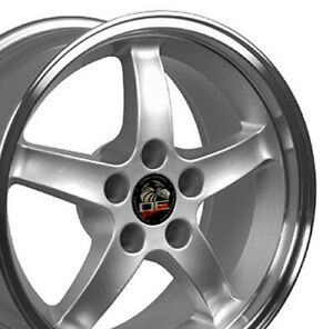 17x9 Rims Fit Mustang Cobra R Style Dd Silver Mach d Wheels Set