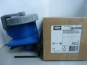 New Hubbell Hbl360r6w Pin And Sleeve Receptacle 2p 3w 60 A Watertight 360r6w Nib