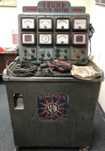 Vintage 1950s Sun Diagnostic Machine W book Tools Mats Wiring 41600 Used