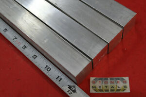 4 Pieces 1 1 4 x 1 1 4 Square Aluminum 6061 Solid Bar 12 Long T6511 Mill Stock