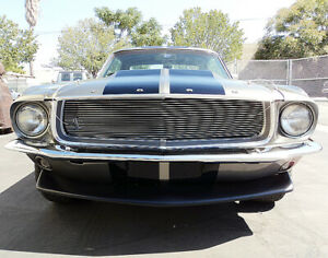 New 67 68 Ford Mustang Billet Grille Fastback Coupe Gt Shelby Eleanor Restomod