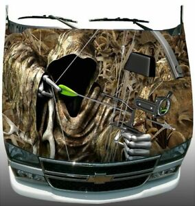 Shadow Grass Camo Grim Reaper Bow Hunting Hood Wrap Sticker Vinyl Decal Graphic