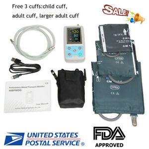 24hrs Ambulatory Blood Pressure Monitor Holter Analysis Software 3 Cuff usa