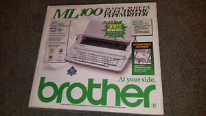 Brother Ml100 Ml 100 Electronic Daisy Wheel Typewriter Excellent Condition