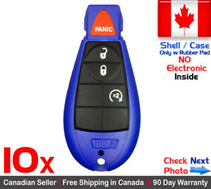 10 New Blue Replacement Keyless Remote Key Fob Case For Dodge Caravan Ram Shell