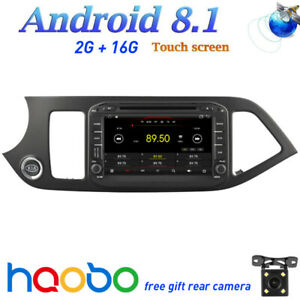 Android 8 1 Car Gps Touch Navi Screen Video Bt For Kia Picanto Morning 2012 2017